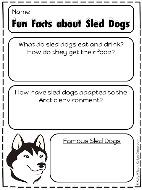 Animal Research Printable. Copyright Kelly's Classroom Online