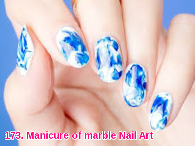 Manicure of marble Nail Art