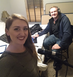 "Anne Jenness and Brendan Vonick recording ""Secret Admirer"" remotely"