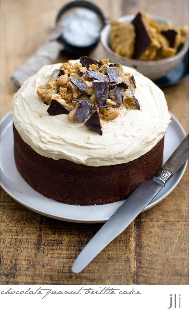 Chocolate Peanut Brittle Cake Delicious Bites