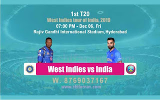WI vs Ind 1st T20 Today Match Prediction Reports | West Indies tour of India, 2019