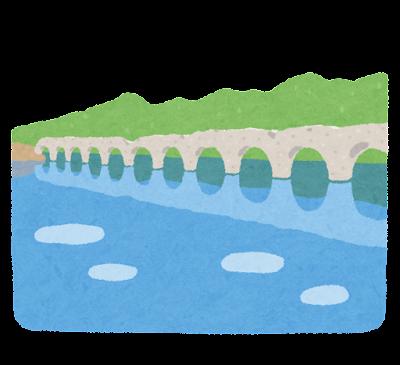 タウシュベツ川橋梁のイラスト