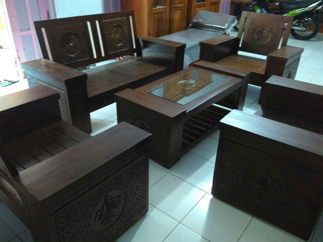 Transfer Produk Peralatan Jual Meja Kursi Tamu Set Kayu Jati 1 Wa Line 087738728524 085217712901