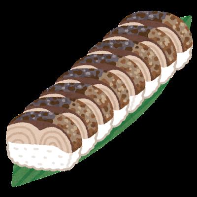 焼き鯖の棒寿司のイラスト