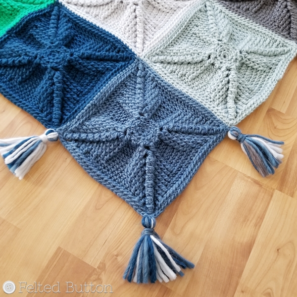 Asanas Blanket -- free crochet pattern by Susan Carlson of Felted Button