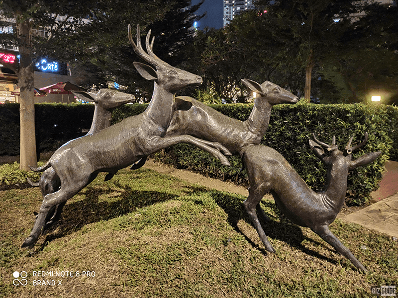 Deer statues at the park