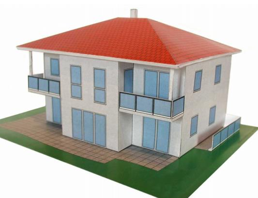 Mauerbach Modern House In Austria Paper Model