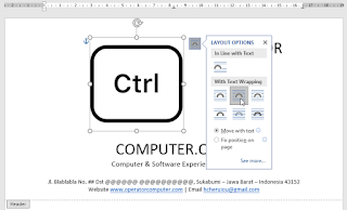 Pilih Tight di Layout Options With Text Wrapping