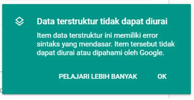 data tidak dapat di urai