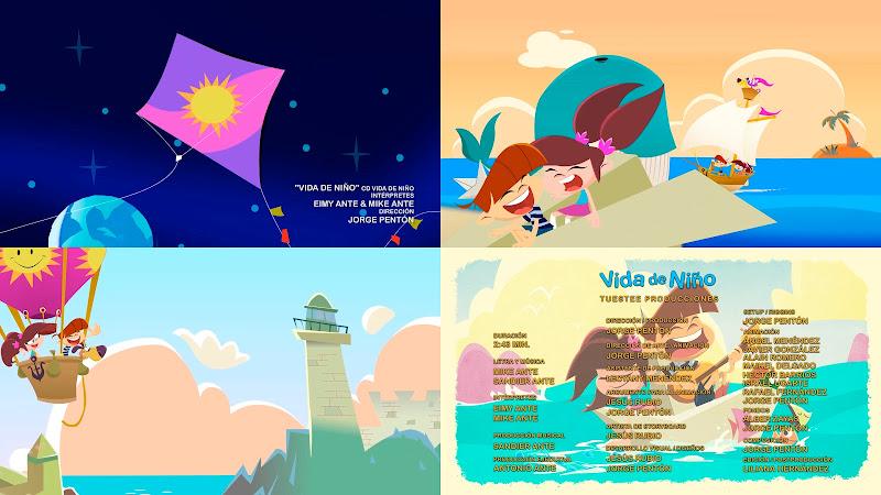 Eimy & Mike - Vida de niño - Videoclip / Dibujo Animado - Director: Jorge Pentón. Portal Del Vídeo Clip Cubano. Música infantil cubana. CUBA.