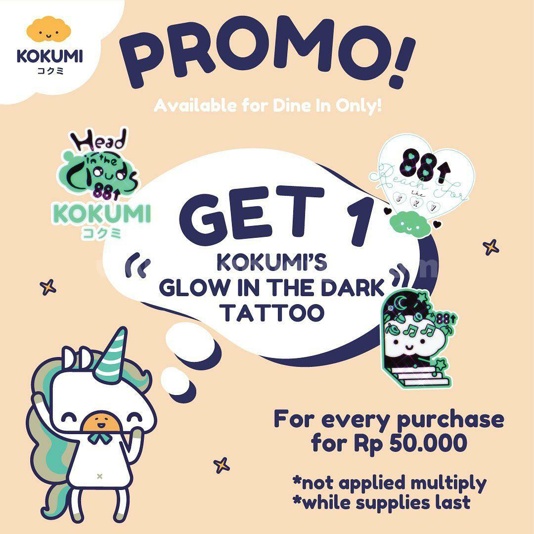 KOKUMI Promo Glow in the Dark Tattoo KOKUMI x 88rising