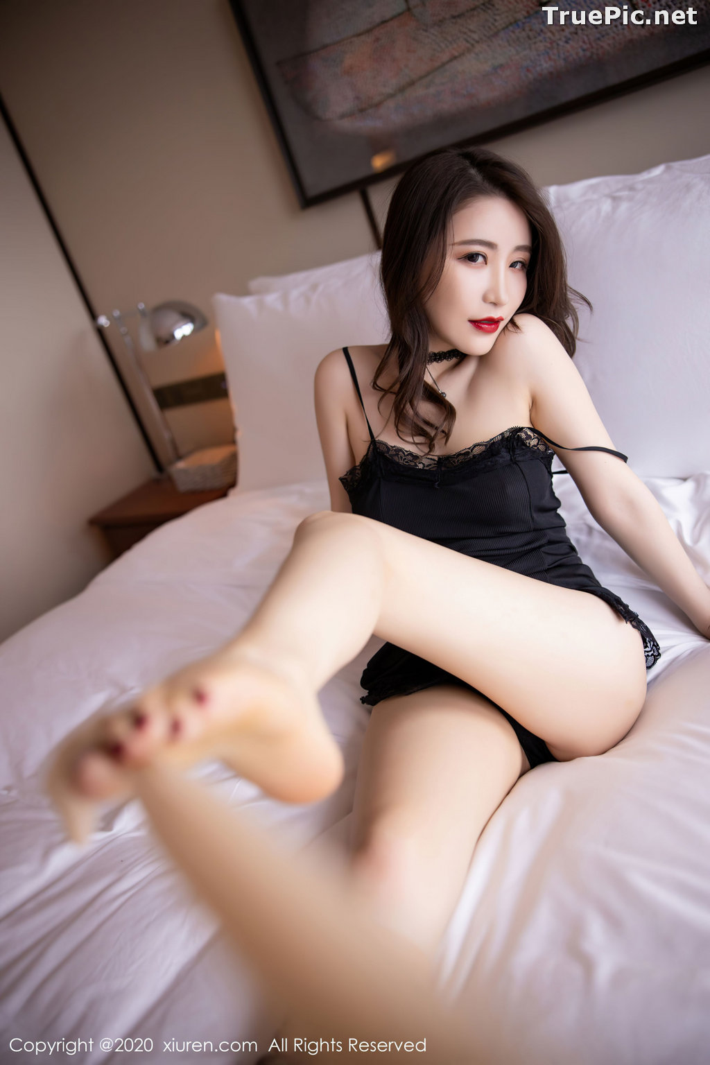 Image XIUREN No.2620 - Chinese Model - 绯月樱-Cherry - Sexy and Mysterious Black - TruePic.net - Picture-5