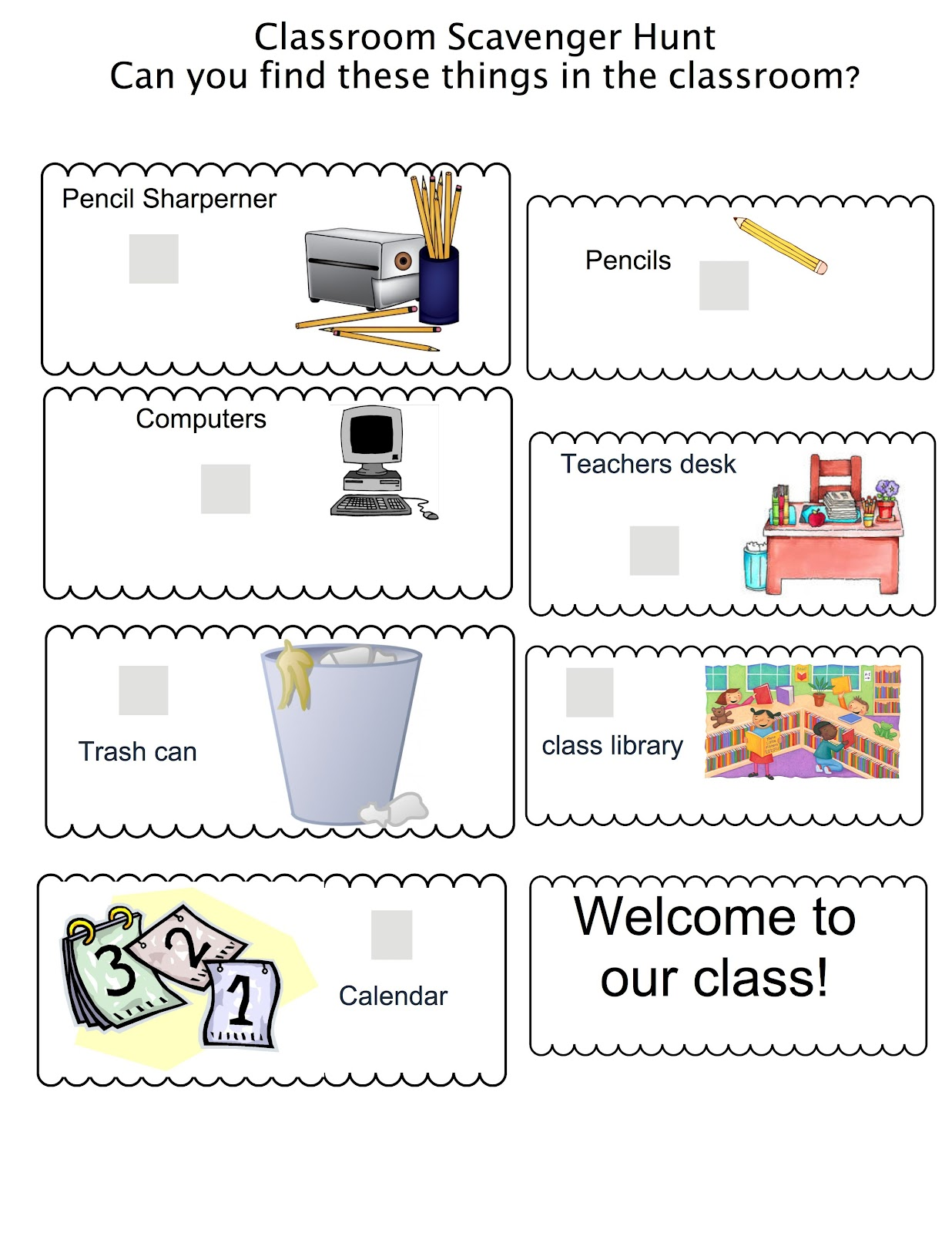 Teacher Talk Back To School Scavenger Hunt