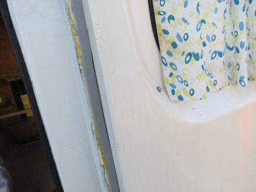fiberglass trailer door temporary gasket with foam strip