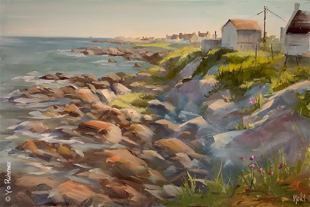 Bretagne Ölbild Pleinairmalerei