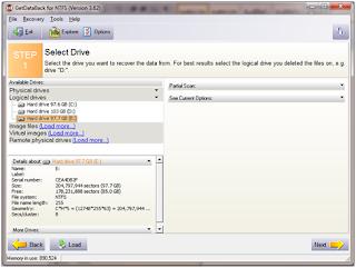 Mengembalikan File dengan Runtime GetDataBack