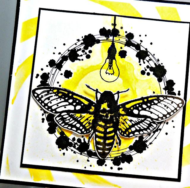 Visible Image - Moth Stamp