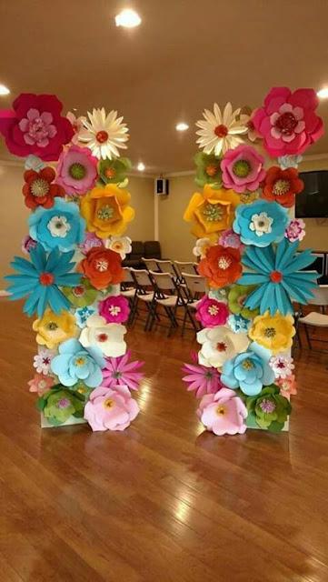 hoa giay trang tri su kien