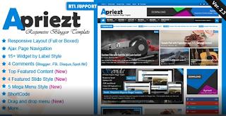 Apriezt v2.3 – Responsive Magazine Blogger Theme Free Download
