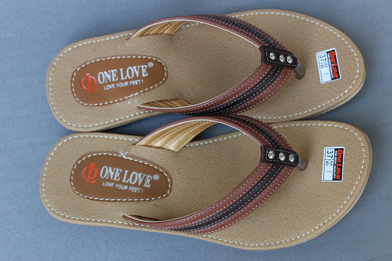 Grosir Sandal Nonslip Japit Simpel - ONE LOVE