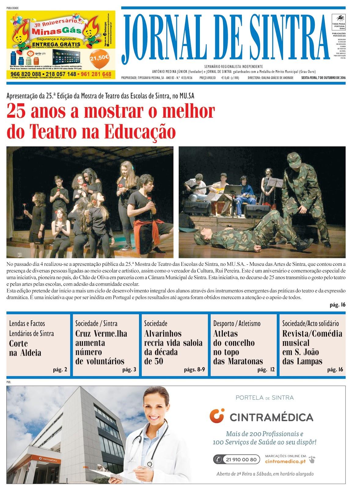 Capa da edição de 07-10-2016