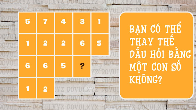ban co the thay the dau hoi bang mot con so khong?