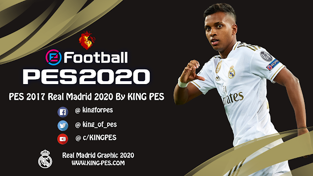 PES 2017  Real Madrid Graphic 2020 [ GOLD ] By KING-PES