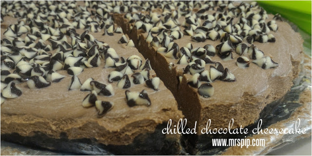 chilled chocolate cheese cake