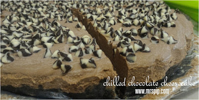 chilled chocolate cheese cake