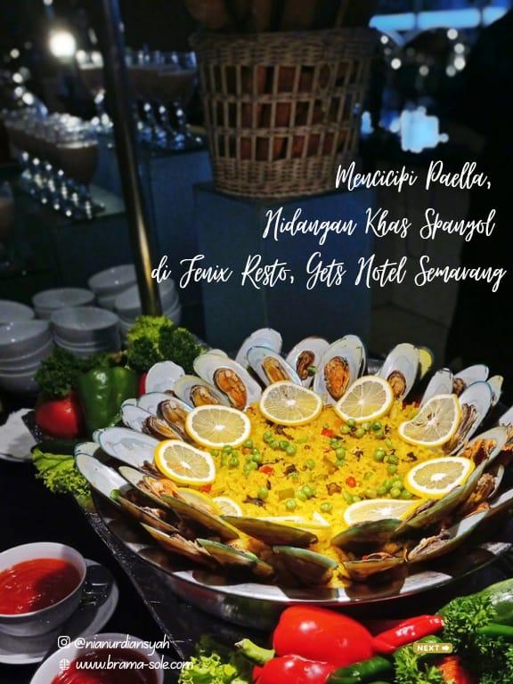 Mencicipi Paella Valenciana Hidangan Khas Spanyol Di Fenix Restaurant, Hotel Gets Semarang.
