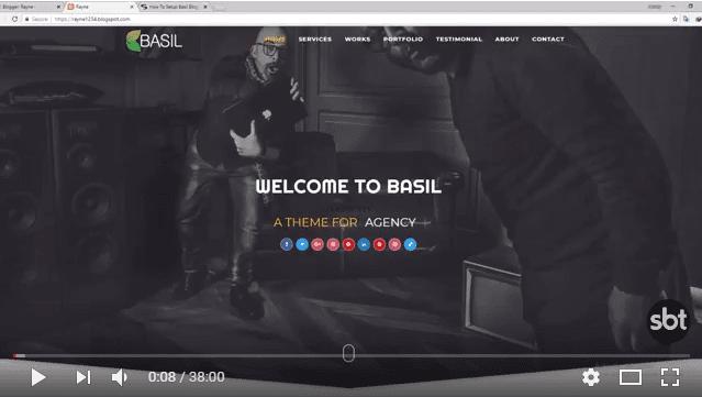 How To Setup Basil Blogger Template - Sora Blogging Tips
