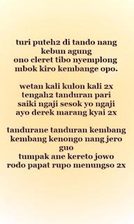 Teks Lirik Sholawat Turi Putih