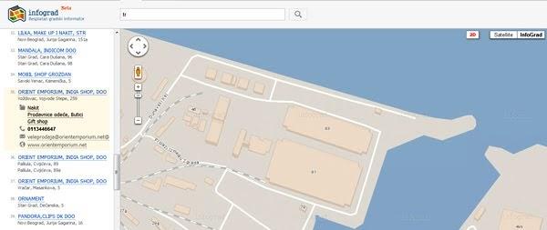 Mapa Beograda Ulice Centar Beograda Novi Beograd Besplatna