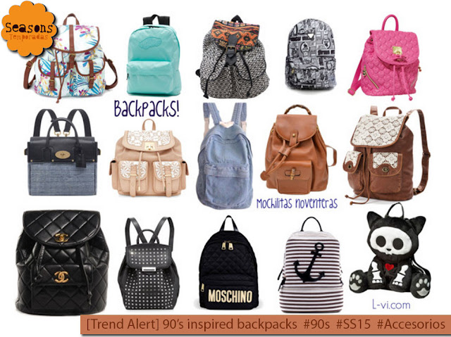 [90sTrends] Backpacks instead of handbags / Mochilitas noventeras L-vi.com