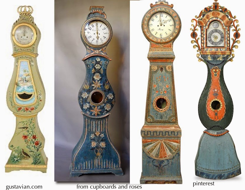 Antique Bridal Swedish Mora Clocks