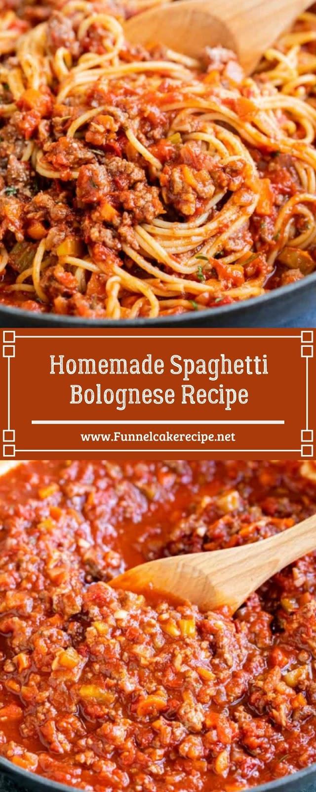 Homemade Spaghetti Bolognese Recipe