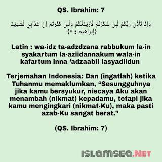 surah Ibrahim Ayat 7