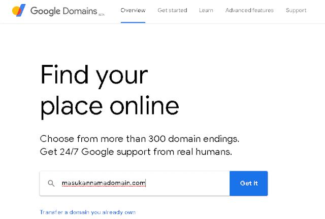 Cara Beli Domain di Google