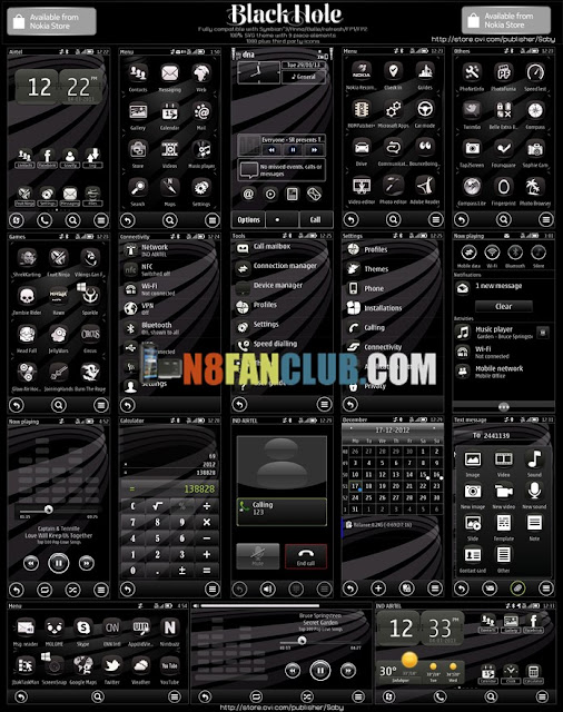 Black Hole Theme for Nokia N8 & other Belle smartphones