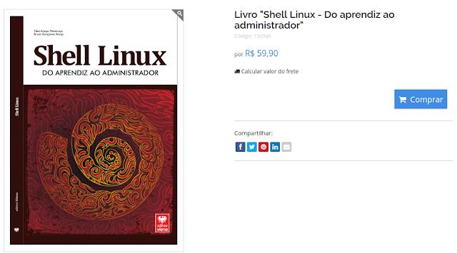 Livro sobre Shell Script na DioStore