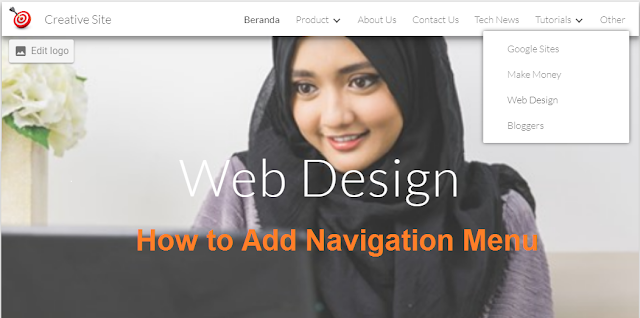 Google Sites: Membuat Menu Navigasi Website