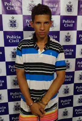 Jovem é preso em Mairi