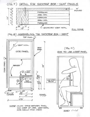 Blueprints from plans for constructing an orgone energy accumulator