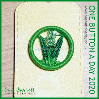 One Button a Day 2020 by Gina Barrett - Day 178 : Lily of the Valley