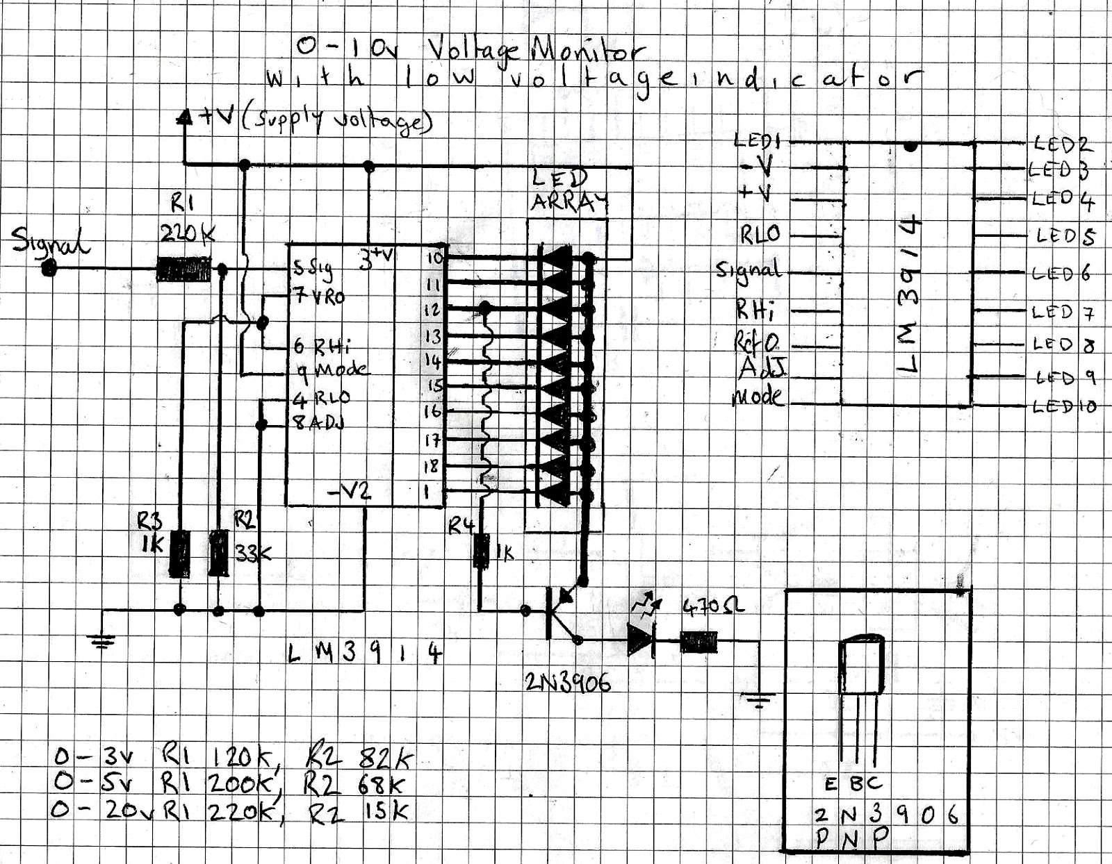 Paul In The Lab Lm3914 Voltage Monitor Stripboard Veroboard Layout Basic Circuit For