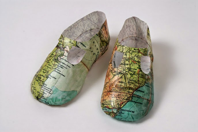 08-Shoe-Map-Jennifer-Collier-Stitched-Paper-Sculptures-www-designstack-co