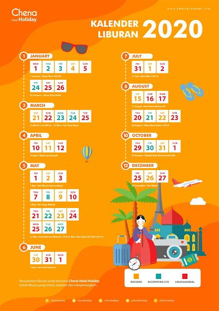 Kalender Liburan 2020 bersama Cheria Holiday