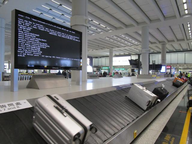 香港国際空港 荷物受け取り