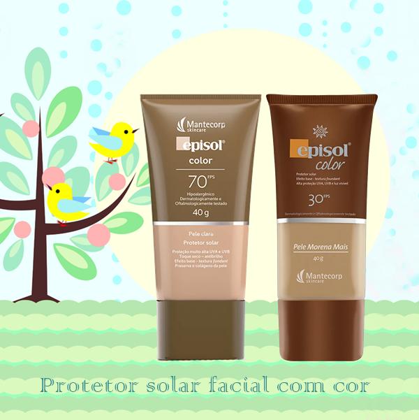Protetor solar Episol facial com cor