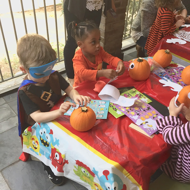 halloween fall pumpkin decorating party atlanta georgia friends sahm